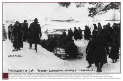 1929 - Eesti Vabariigi 1920. aastatel rajati Petserimaale Eesti kaitseväe Põhja- ja Lõunalaager. Õppused toimusid ka talviti. Talimanööver Obinitsas.  Foto: Nikolai Gavrilovi kogu