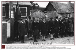 1938 - During the period of Estonian Republic, the activities of unions ‒  characteristic of Estonia ‒ spread to Pechory County as well. The parade of Brownie Guides at Izborsk.